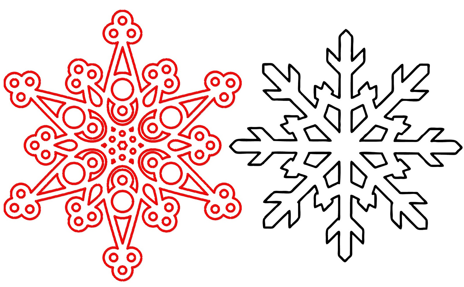 snowflakes design coloring page