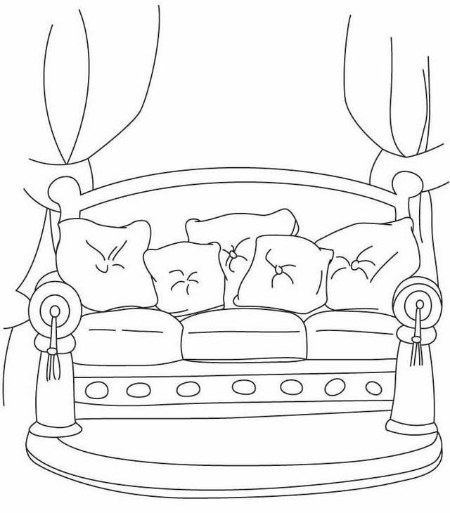 sofa furniture coloring pages