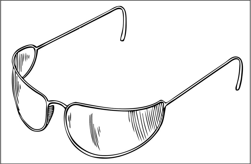 sunglasses men coloring page