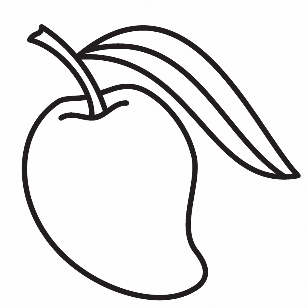 Best Mango Coloring Page for Kids