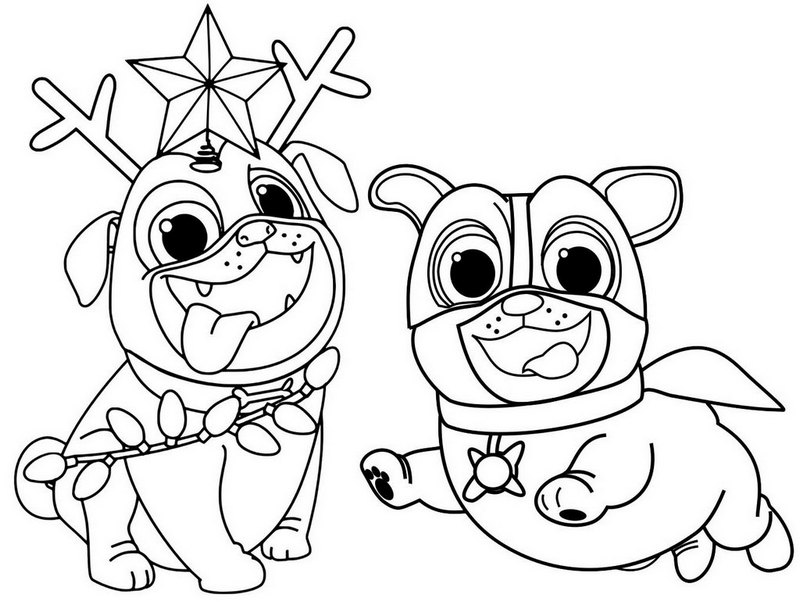 Cute Puppy Dog Pals Coloring Page