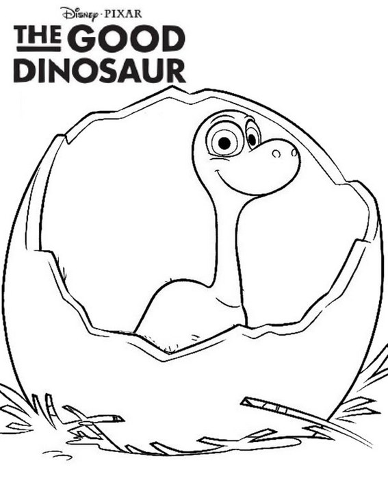Egg Arlo The Good Dinosaur Coloring Page for Kids