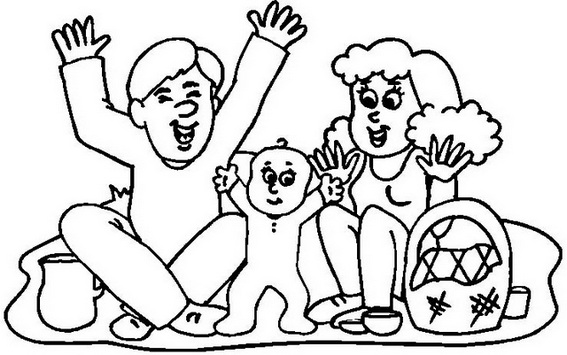 Family trip travel on holiday coloring page