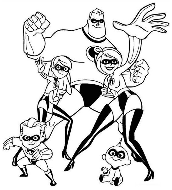 Fantastic The Incredibles Coloring Page for Children
