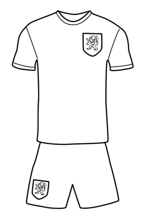 Football Uniform Colouring Page for Fans