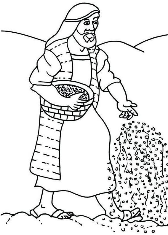 Fun Parable Sower of Seeds Coloring Page
