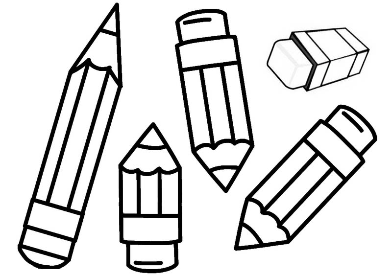 Fun Pencil Coloring Page for Kids