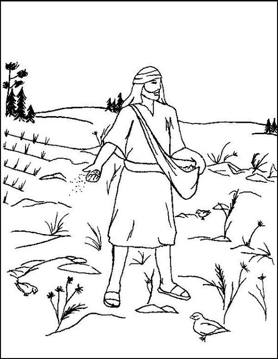 Mustard Seed Parable Coloring Page