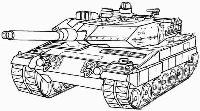 Panzer Tank Army Coloring Page