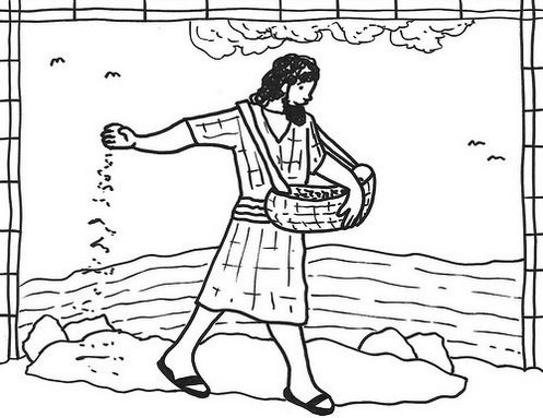 The Parable of Sower Illustrations Coloring Page