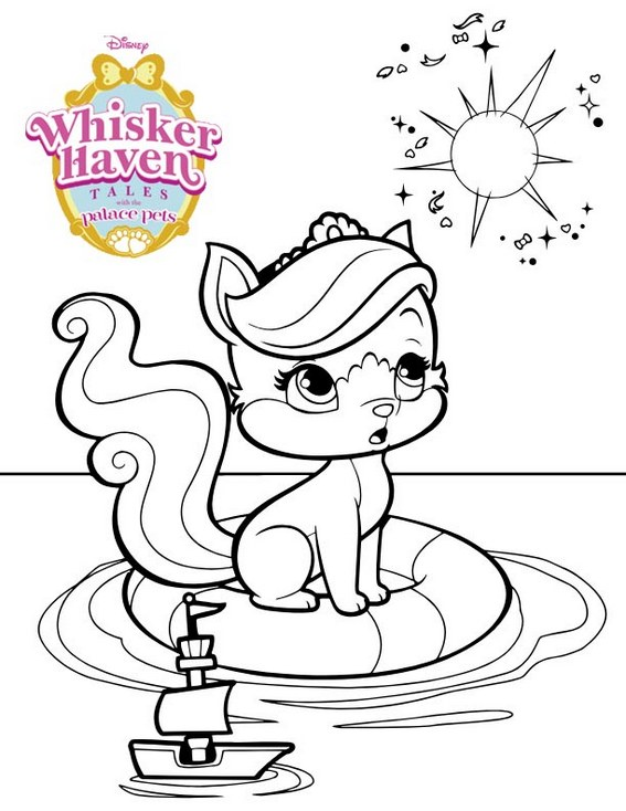 Treasure Whisker Haven Coloring Page