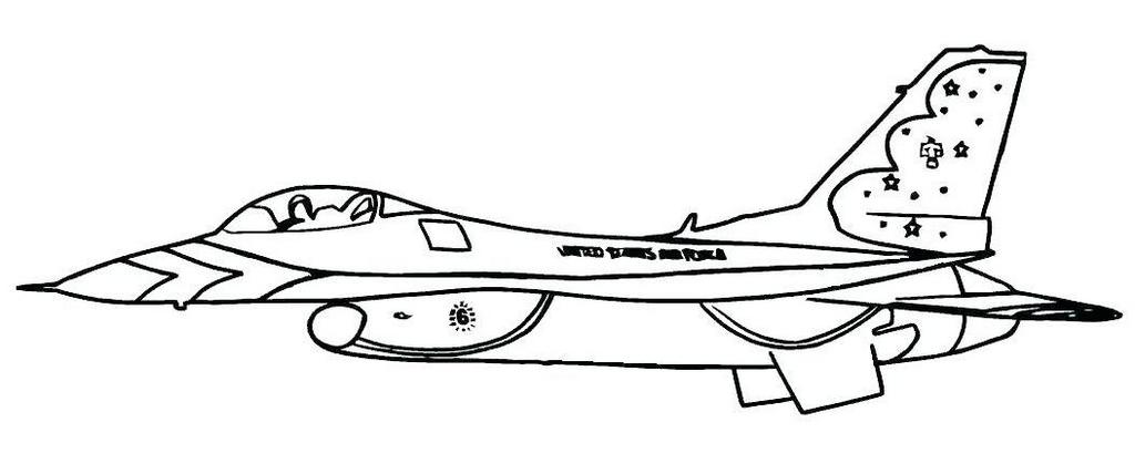 US fighter jet coloring page