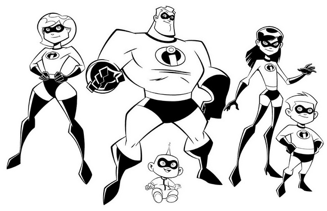 Wonderful The Incredibles 2 Coloring Pages