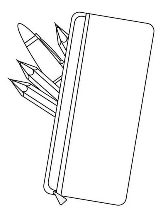 case pencil silicone coloring page