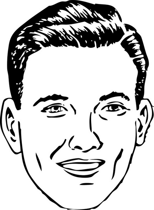 detailed man face coloring page