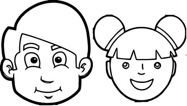 face part cartoon coloring page