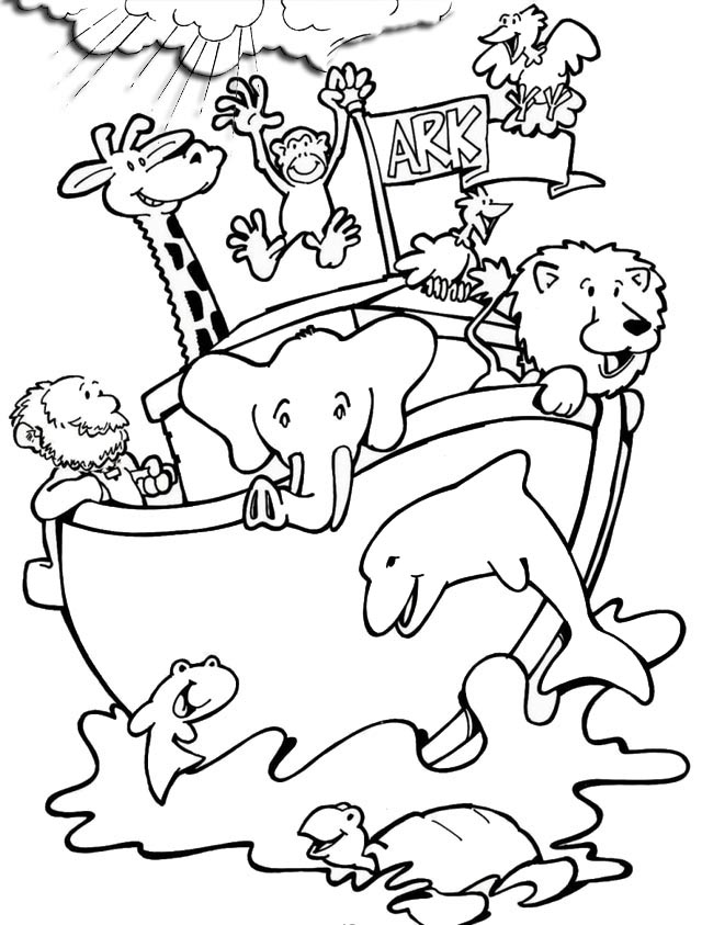 fun noahs ark animal coloring pages for children