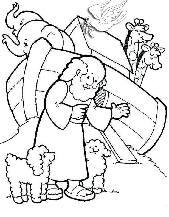 fun simple noahs ark coloring pages