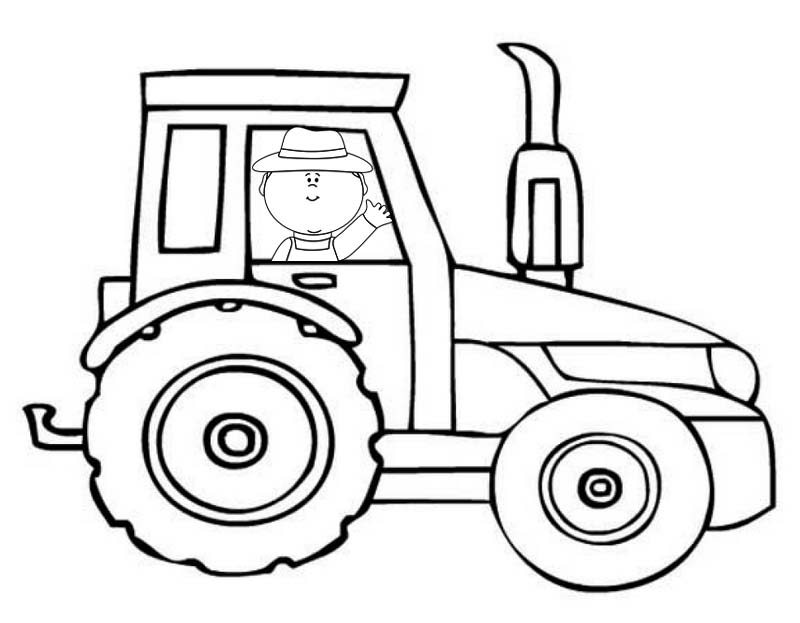 printable fun tractor coloring pages for kids
