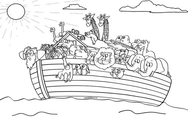 printable noahs ark coloring pages