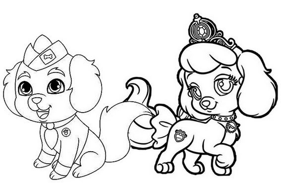 pumpkin pup puppy dog and critterzen whisker haven coloring page