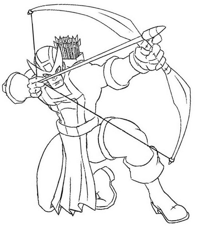 Hawkeye Marvel Coloring Page