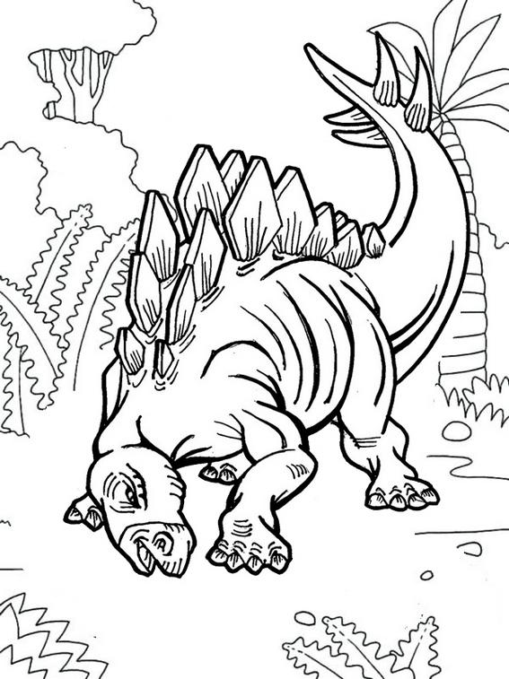 best stegosaurus coloring page