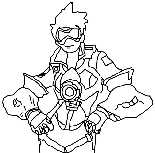 cartoon overwatch tracer coloring page