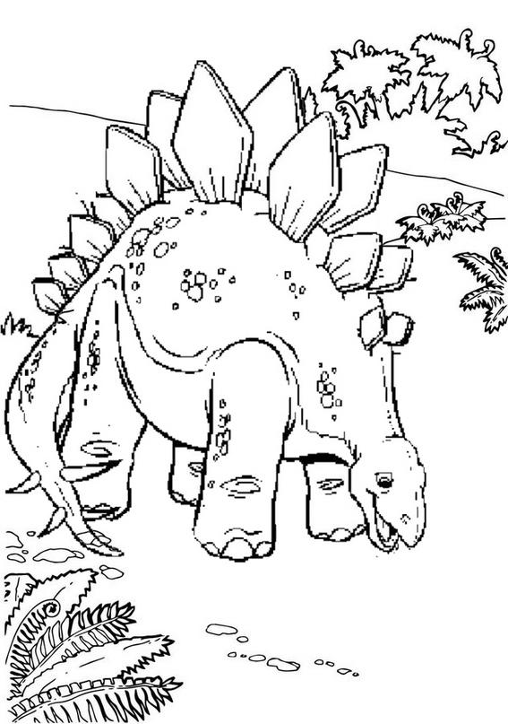 stegosaurus jurassic park coloring page
