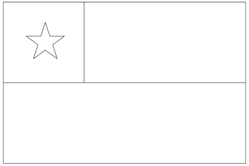 the national flag of chile coloring page