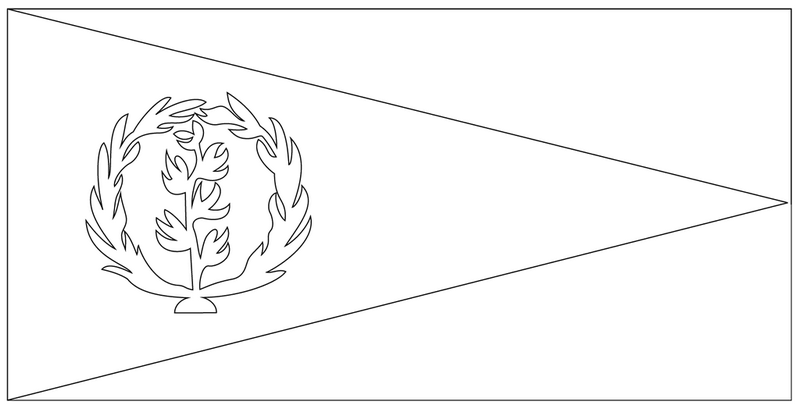 the national flag of eritrea coloring page