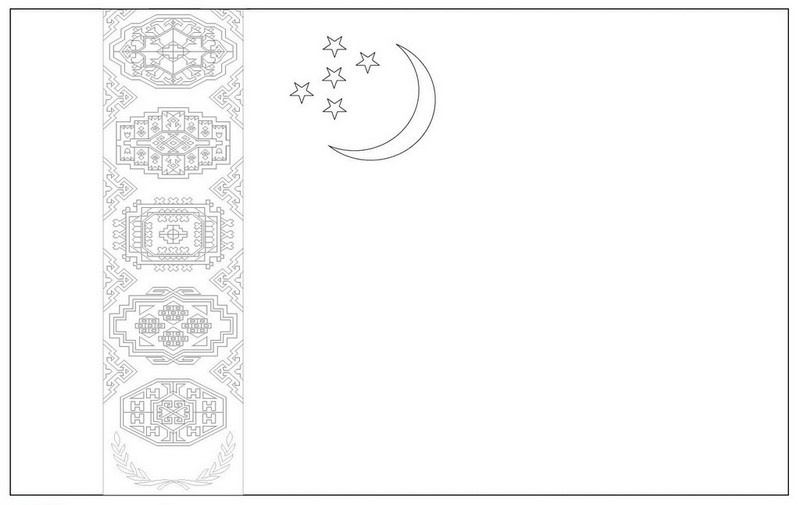 the national flag of jordan coloring page