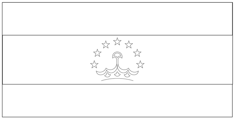 the national flag of tajikistan coloring page