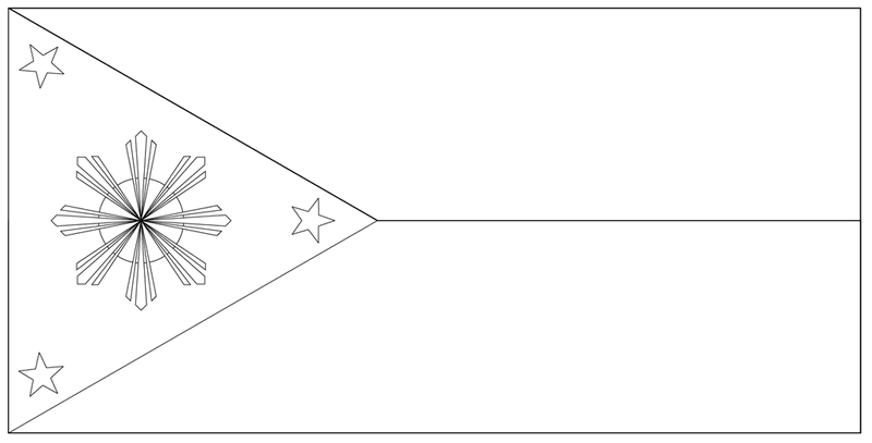 the national flag of the philippines coloring page