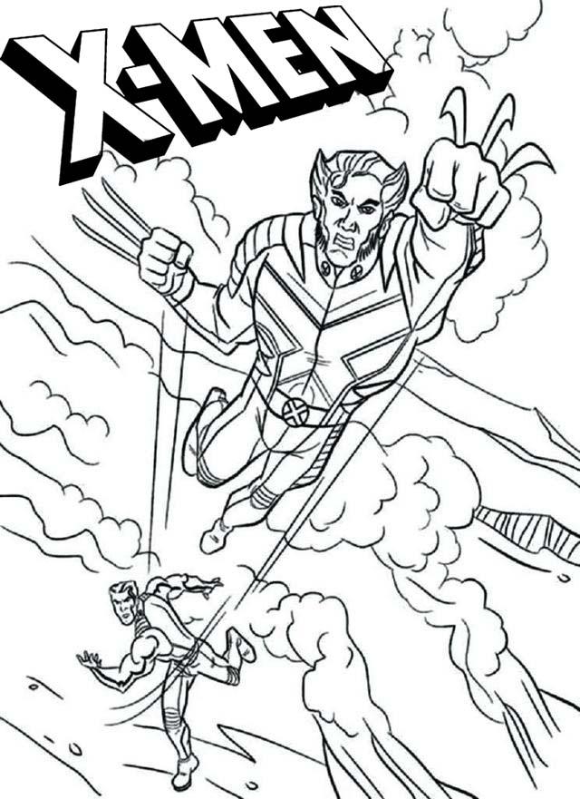 x men coloring pages for marvel comics fans