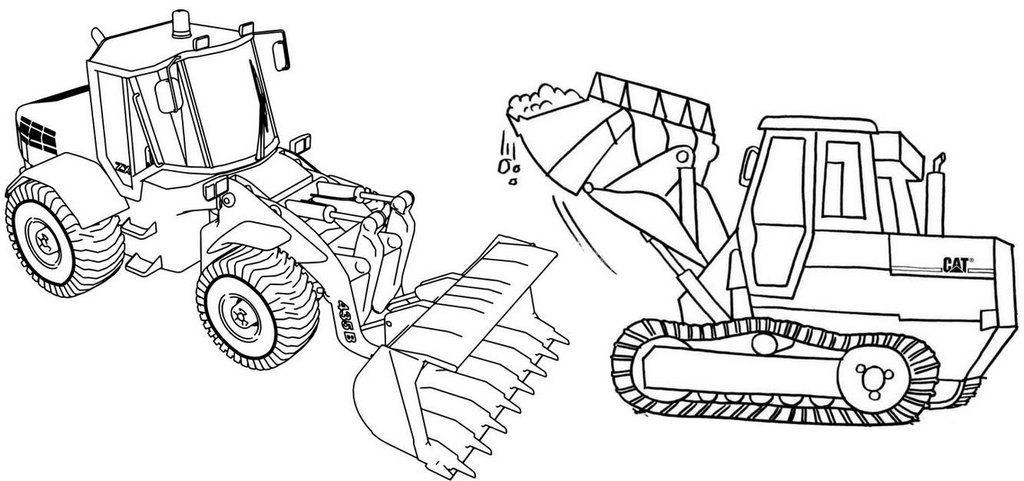 Best Bulldozer Coloring Page for Children