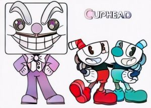 Cuphead Coloring Work from Cacha