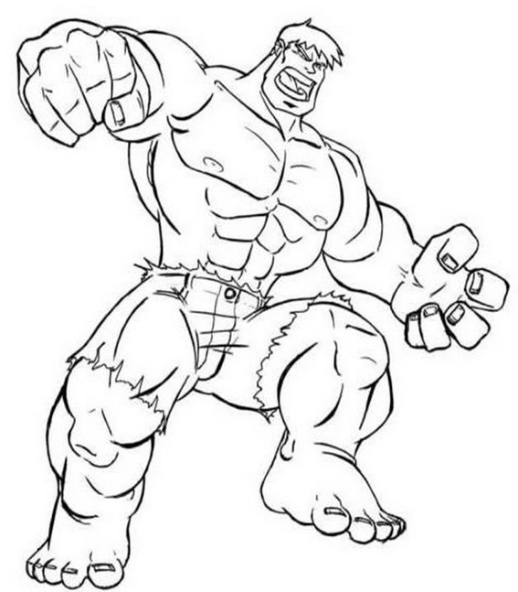 coloring and drawing: avengers incredible hulk coloring pages