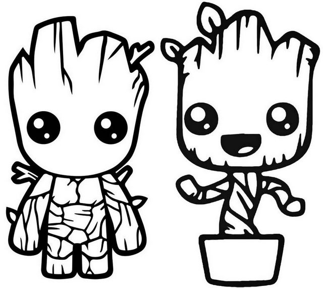 LEGO Guardians of the Galaxy Groot Coloring Page