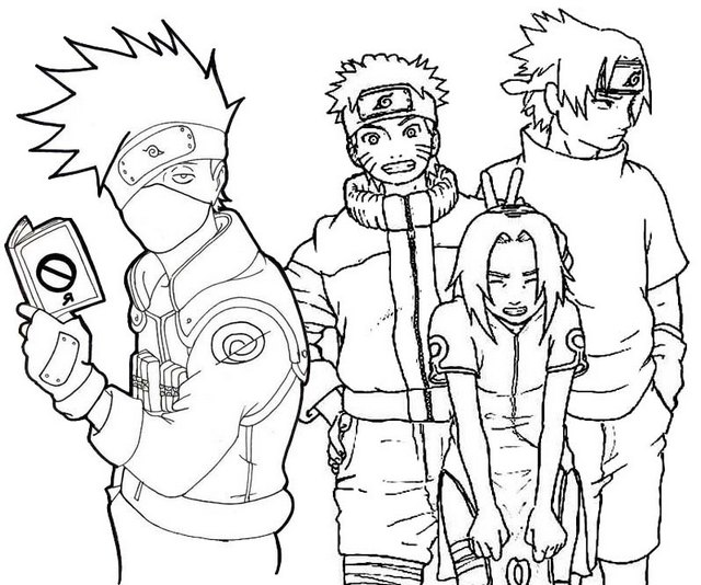 Kakashi Coloring Coloring Pages