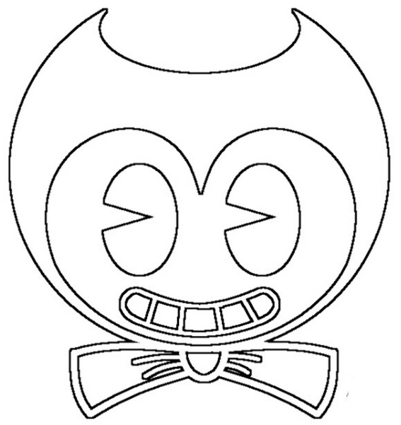 bendy head coloring pages