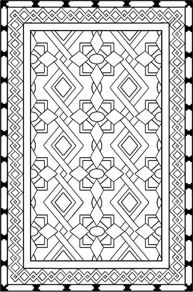 best rug carpet design coloring page