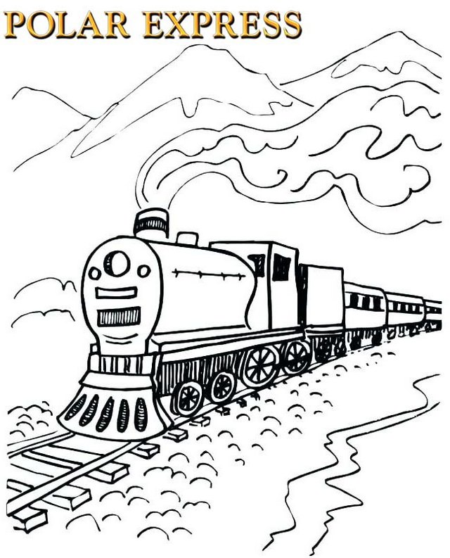 polar express movie coloring page