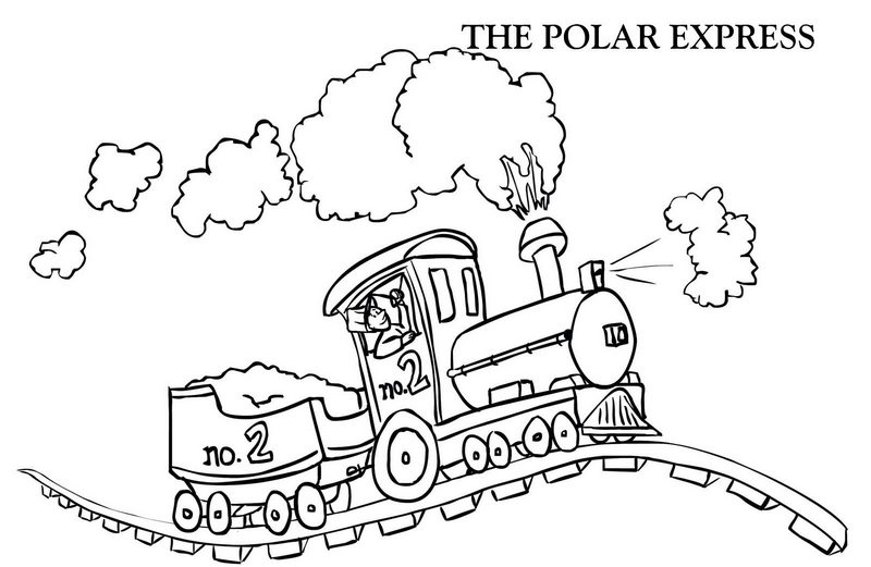 the polar express cartoon coloring pages