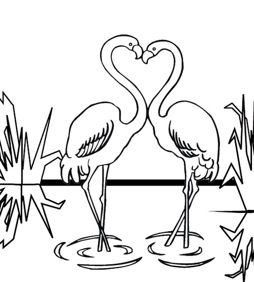 Best Flamingo Coloring Page for Preschoolers