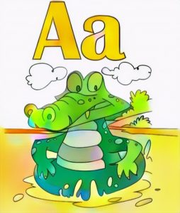 Letter A Coloring Work from Keysa