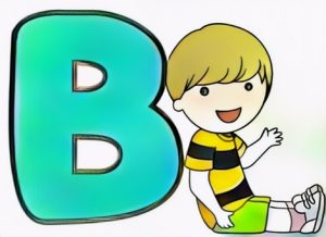 Letter B Coloring Work from Billy