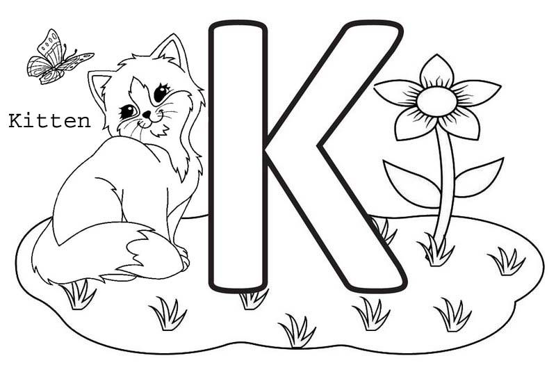 Letter K Coloring Page Printable