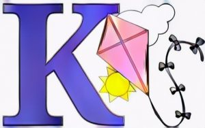 Letter K Coloring Work from Keysa