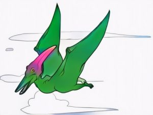Pterodactyl Coloring Work from Indra